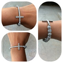 Cross my heart bracelet (Silver)
