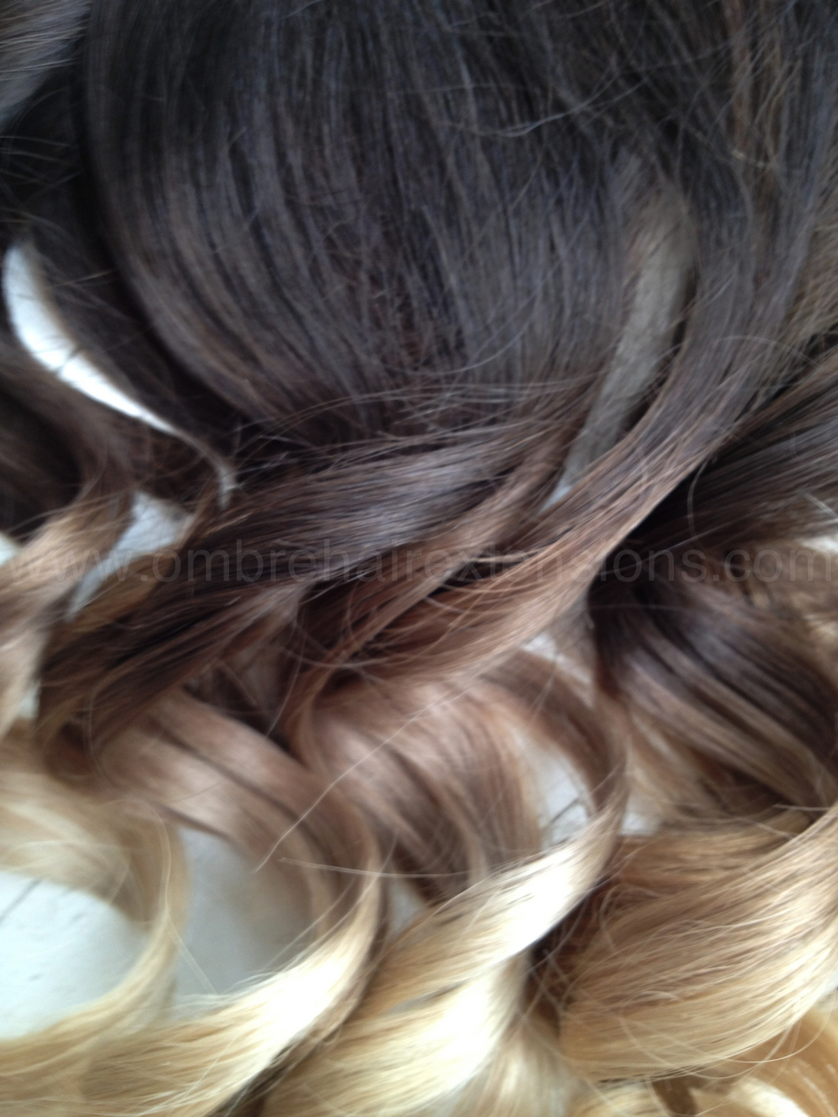 Brown To Blonde Ombre Clip In Hair Extensions 31