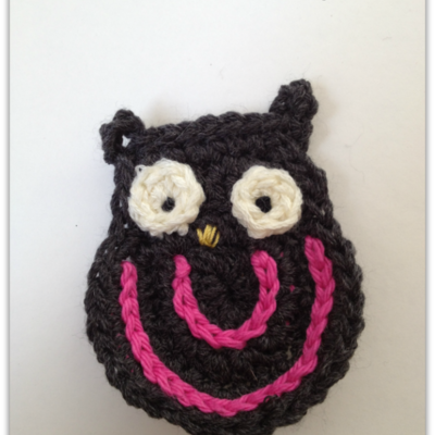 Grey owl applique