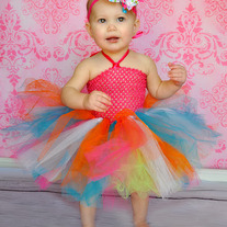 Birthday Tutu Dress Headband Set in Double Layer Super Full Fluff