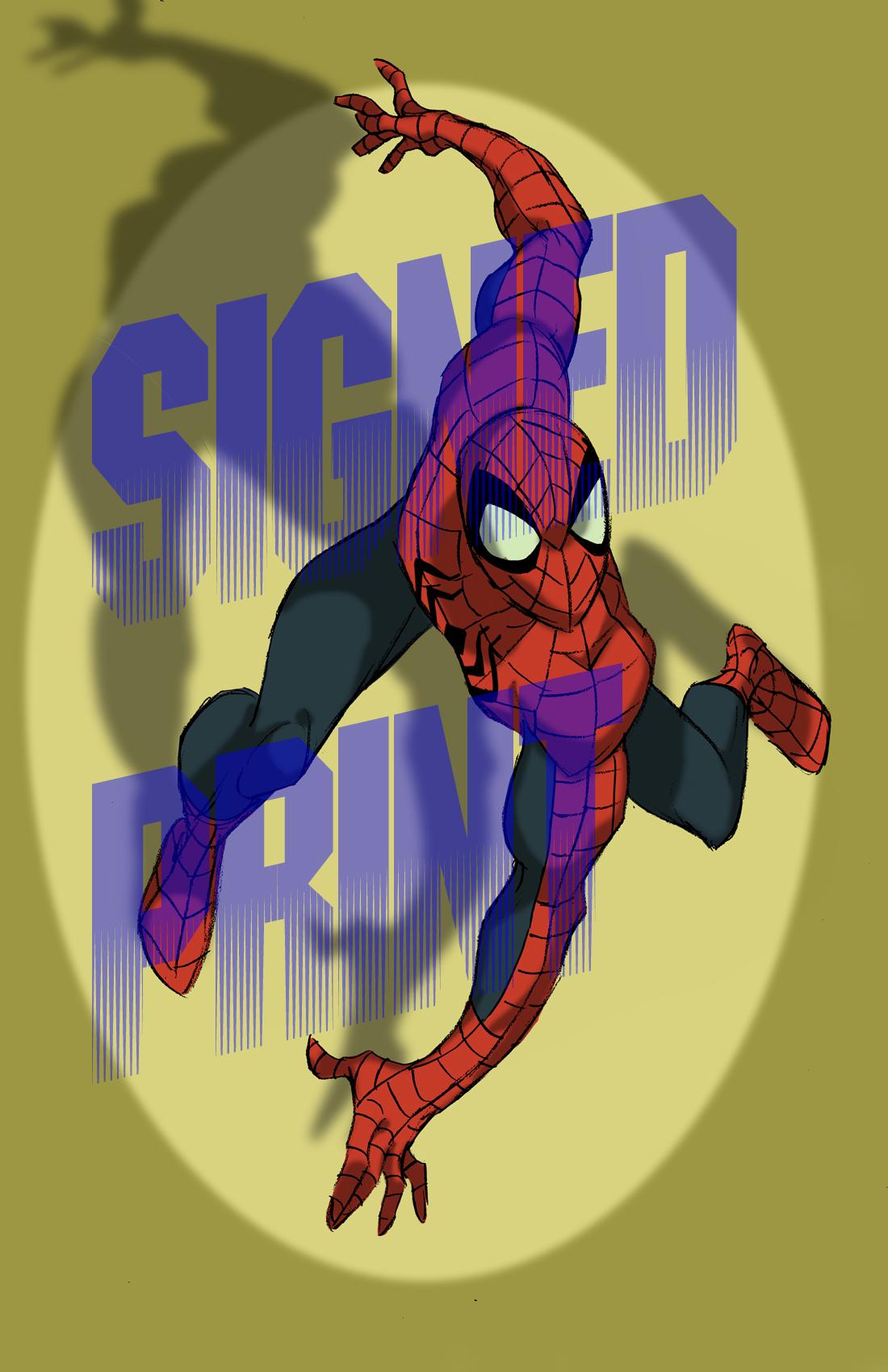 spider man signed print the art of steven e gordon online