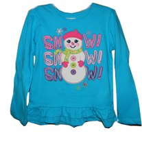 SNOW SNOW SNOW Embroidered Applique Top