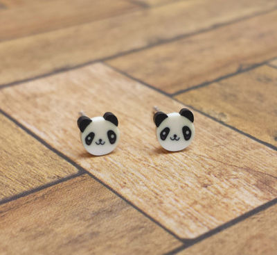 Tiny Panda Stud Earrings