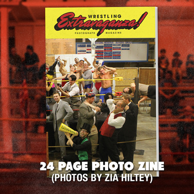 'wrestling extravaganza' photo zine
