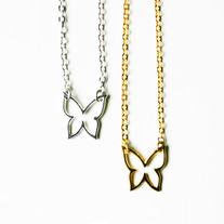 Mini Butterfly Charm Necklace