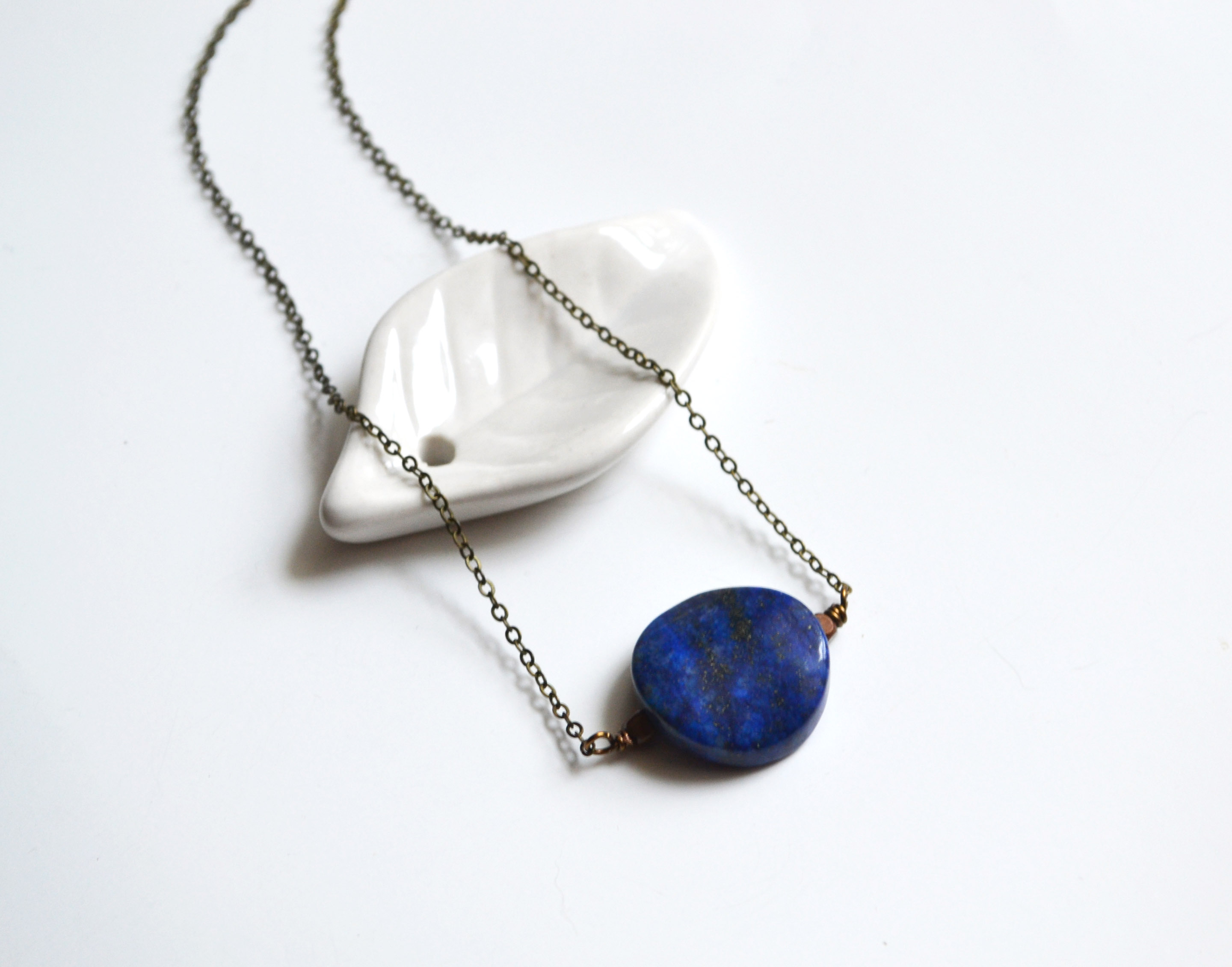 Necklaces with Navy Stones