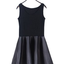 Scoop Neckline Skater Dress