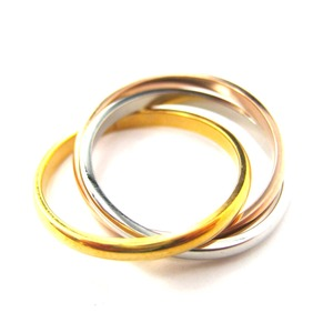Three Connected Rings Linked into One Ring - Sizes 5 to 9 Available