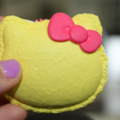 100% authentic hello kitty macaroon squishy