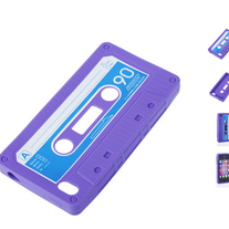 Retro Classic Cassette Tape Silicone Rubber Case For iPhone 4/4S