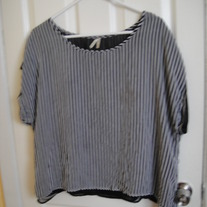 Myth Black/White Striped Shirt 2X