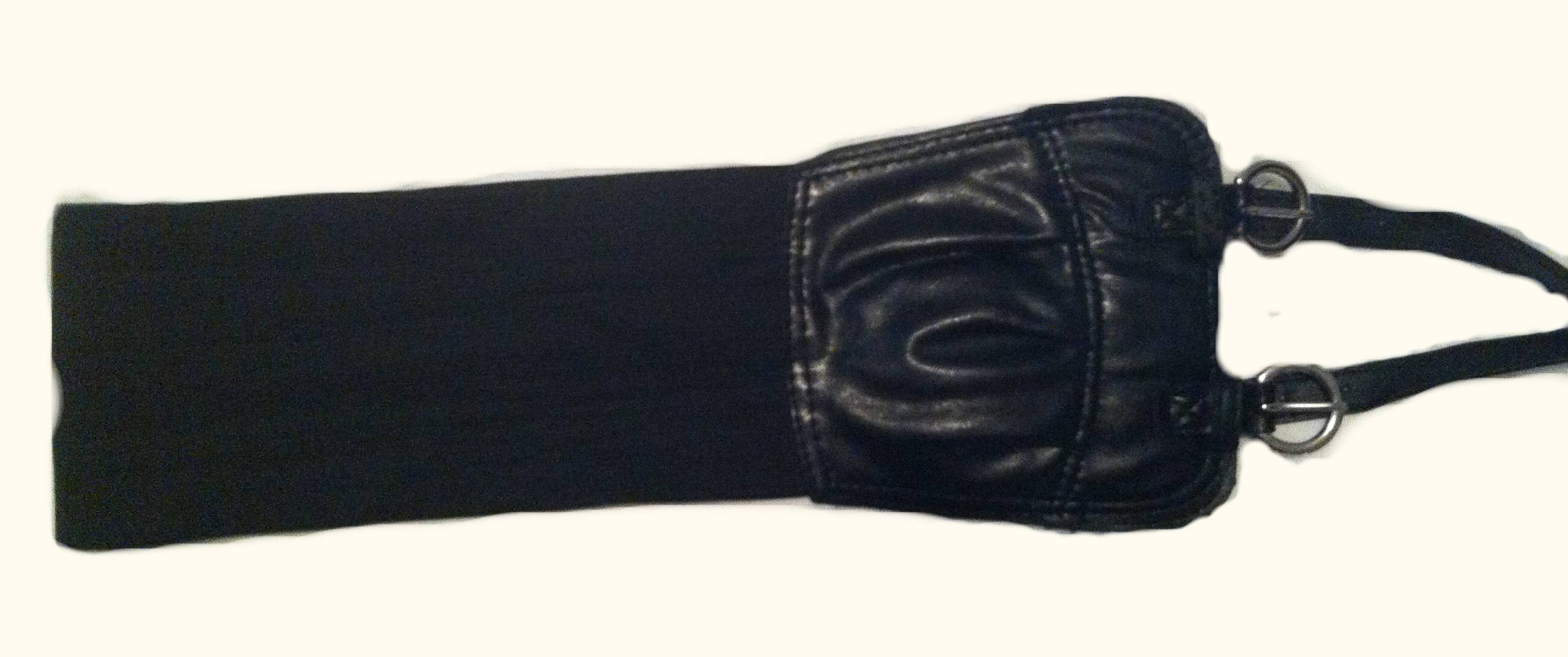 wide black stretch belt 183 the glam suite atl 183