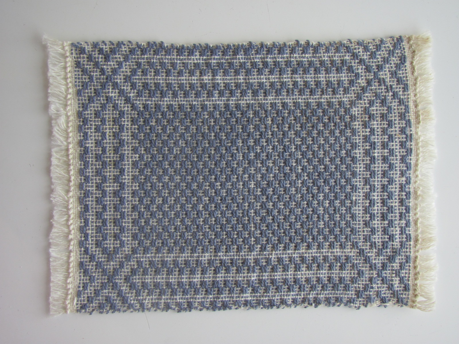 Colonial blue miniature dollhouse handwoven floor rug 1 12 for Decor international handwoven rugs