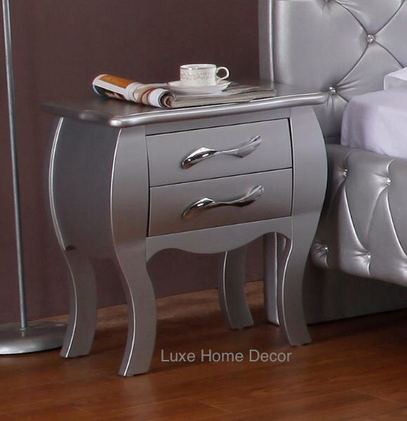 Roller Nightstand V Luxe Home Decor Furnishings