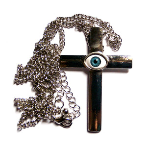 EYEBALL cross necklace