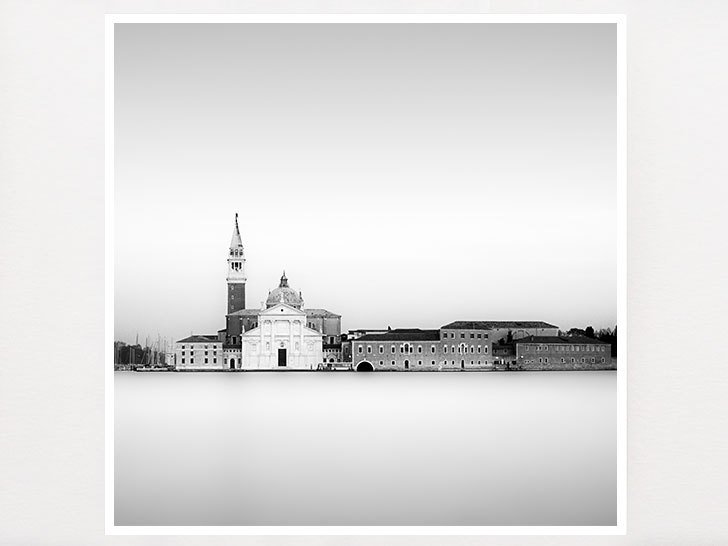 Romantic venice italy black and white minimalist photography