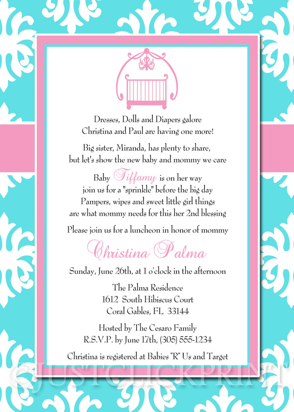 Baby sprinkle tiffany blue pink damask baby shower invitation baby sprinkle tiffany blue pink damask baby shower invitation printable just click print online store powered by storenvy filmwisefo