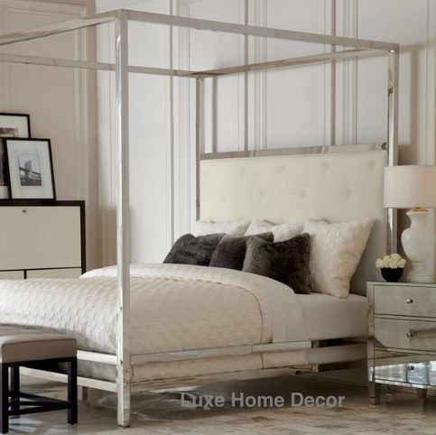 Rachel Tufted Poster Bed · Luxe Home Decor & Furnishings · Online ...