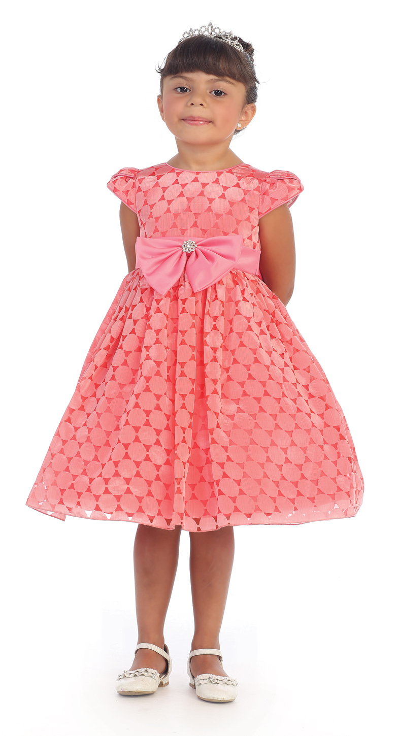 Coral Girls Party Dress · Butterfly Kisses · Online Store Powered by ...