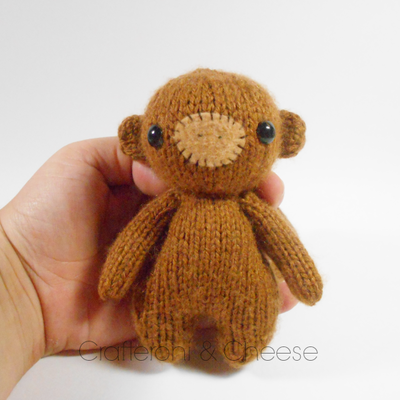 Amigurimi Knit Monkey Plush