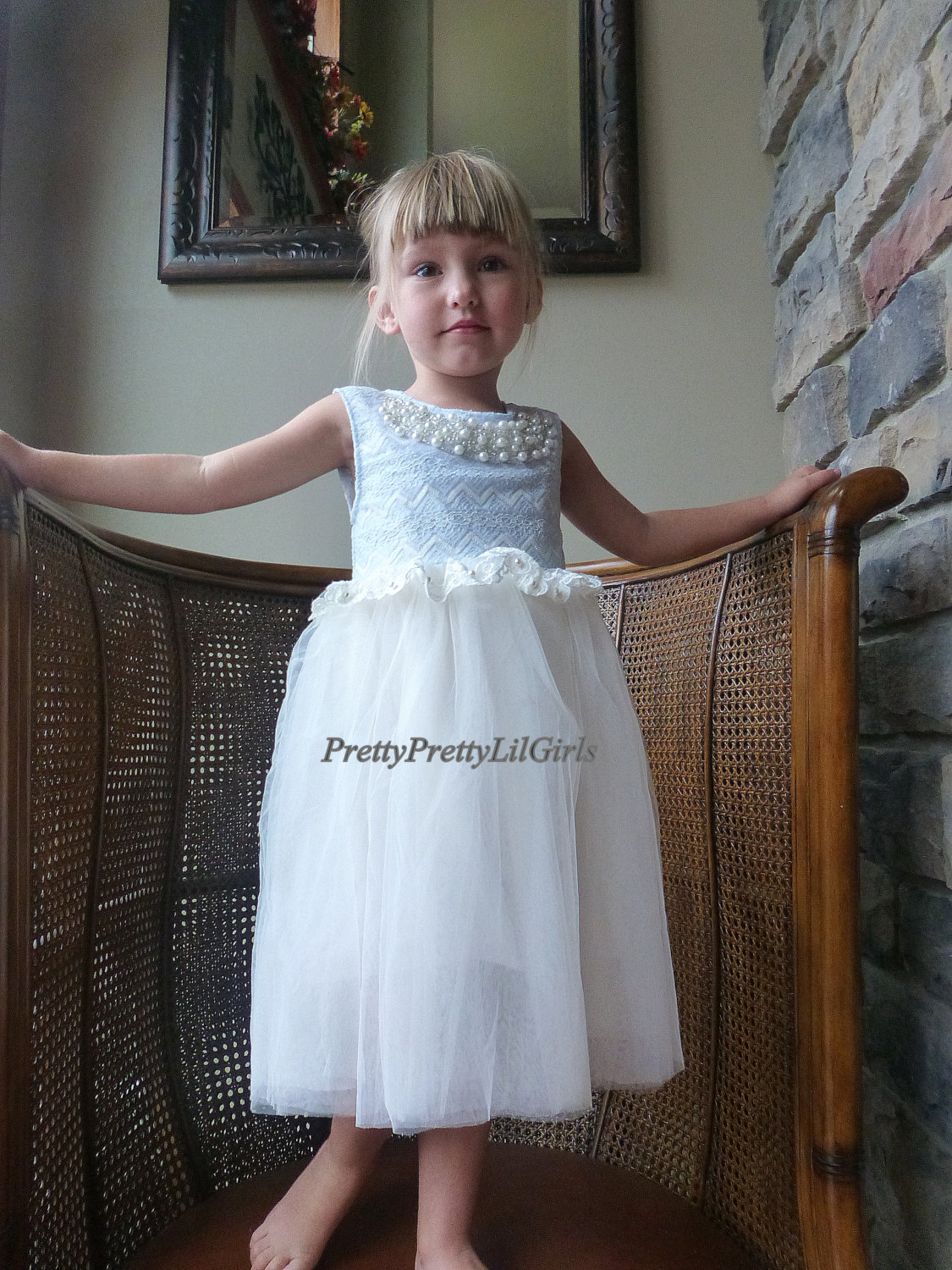 Blue Girls Dress Flower Girl Dress Tutu Dress Girls Holiday Dress