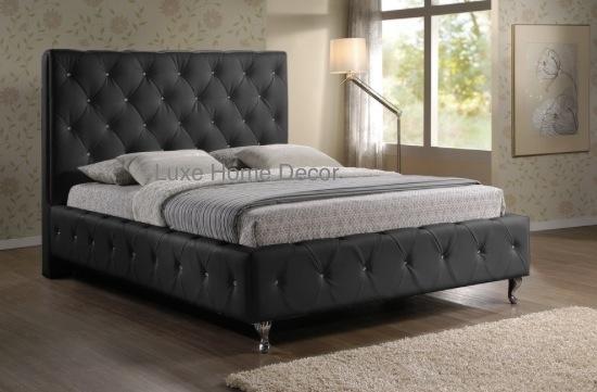 Brighton Tufted Bed Queen Luxe Home Decor