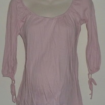 Pink Top with Ties at Sleeves-Liz Lange Maternity Size Small  CLTE1
