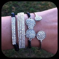 Black Bow Bracelet Set