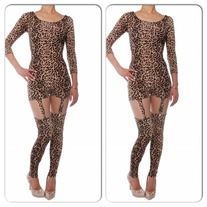 CHEETAH SUSPENDER BODYSUIT