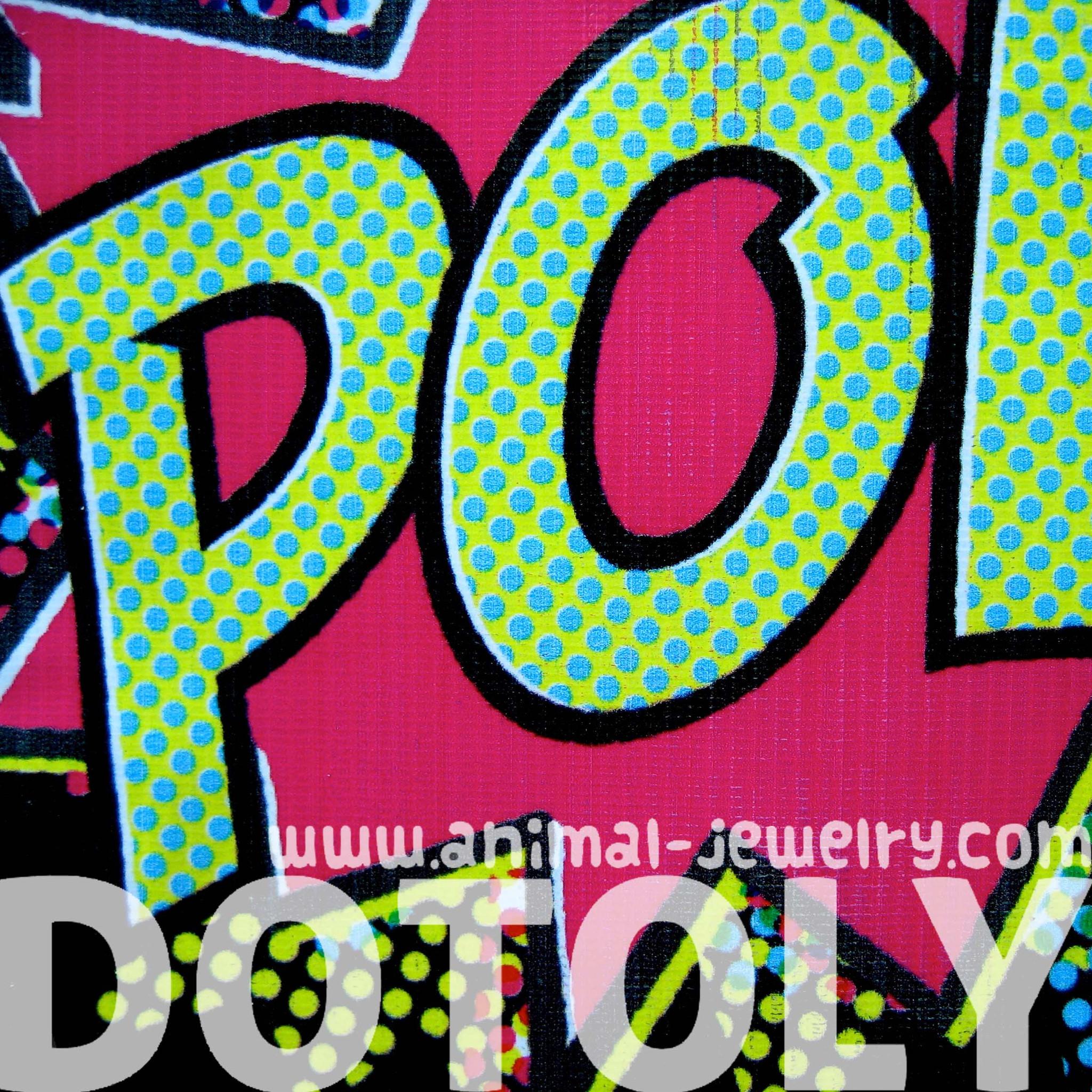 Exceptionnel Large Upcycled Vinyl Pop Art POW! Retro Print Clutch Bag · DOTOLY  OZ86