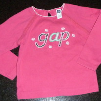 Pink Long Sleeve Gap Shirt Size 2T