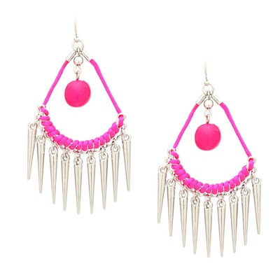 Neon nature spiked earrings