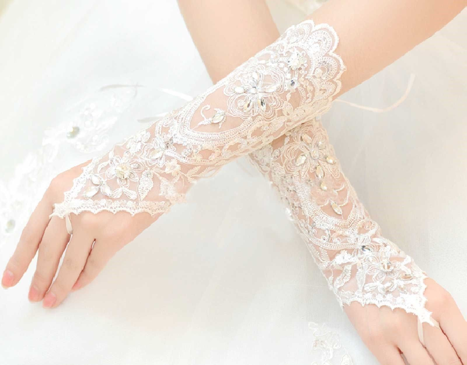 ivory vintage victorian lace wedding bridal rhinestone