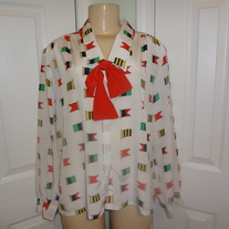 Vintage White Flag Tie Shirt Size 16!!