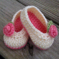 "infant ""Rosie"" ballet slippers"