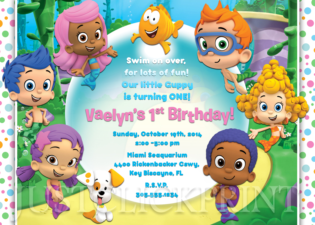 Bubble guppies birthday invitation printable boygirl just click bubble guppies birthday invitation printable boygirl maxwellsz