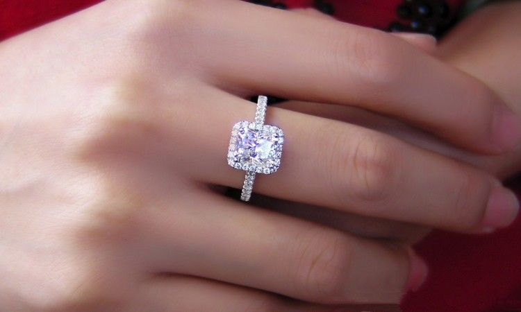 pave diamond ring with guidance diamonds halo radiant engagement taylor shapes sided cut hart au center three and