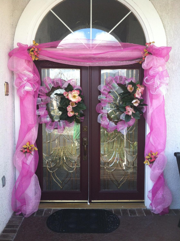 Lefleurcreationsllc Easter Spring Deco Mesh Door Garland With