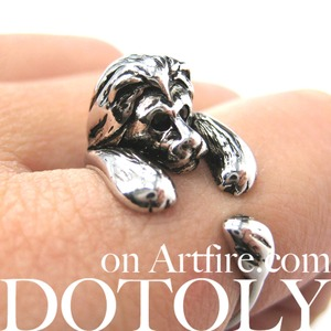 Miniature Lion Animal Wrap Around Ring in SHINY Silver - Sizes 4 to 9 Available