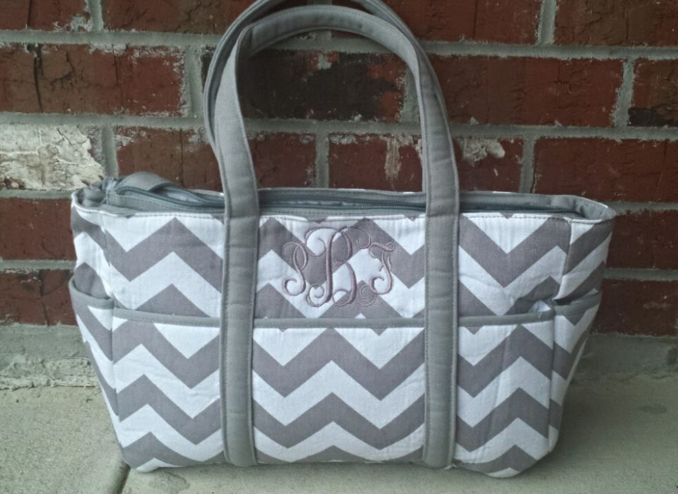 chevron diaper bag custom creations la online store powered by storenvy. Black Bedroom Furniture Sets. Home Design Ideas