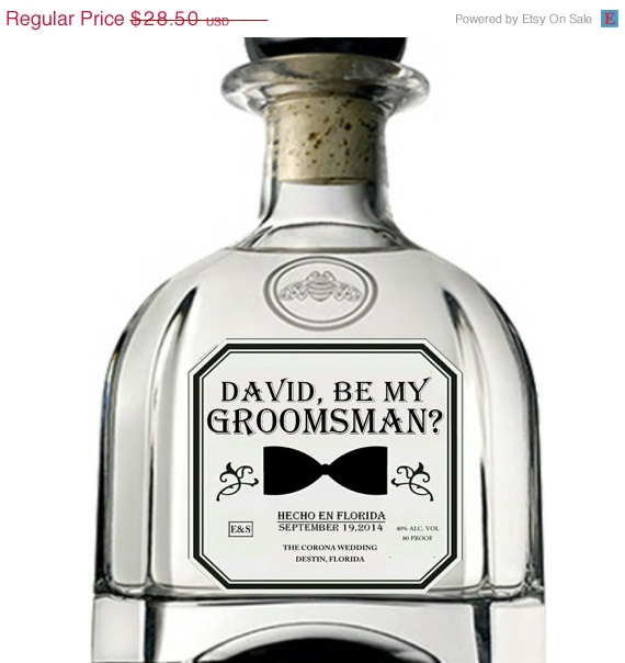 Will you be my groomsman best man tequila labels elegant will you be my groomsman best man tequila labels junglespirit Images