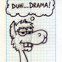 Sketch Card: Cletus the Llama