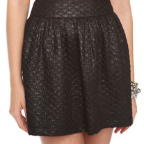 M black glitter diamond-weave punk full pleated mini skirt