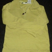 Long Sleeve Green Shirt with Heart Zipper-In Design Girls Size 6/6X