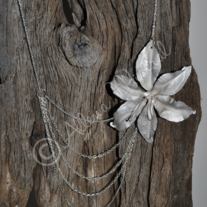 Fold Formed Flower Necklace