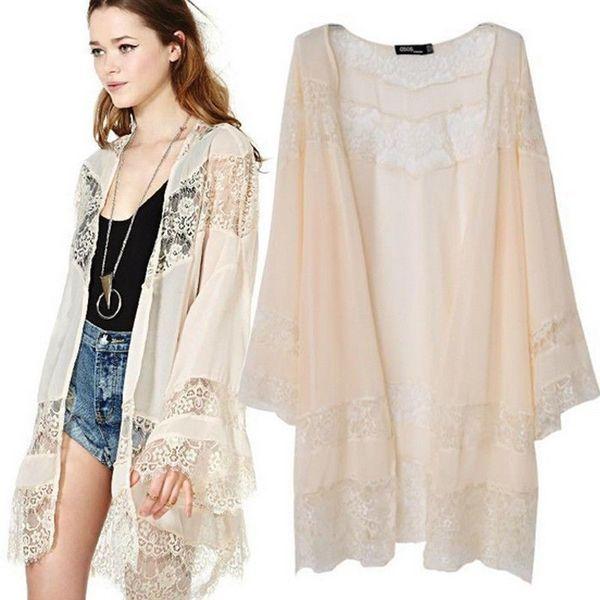 Eyelash Lace Creamy Beige Kimono · Fashion Struck · Online Store ...