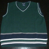 Green/Navy Sweater Vest-The Children's Place Size 10/12