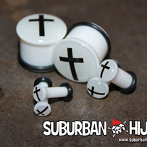 Glow in the Dark Cross Single Flare Plug