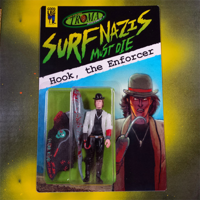Troma entertainment x goodleg toys - 'surf nazis must die' hook, the enforcer