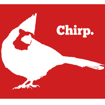 Chirp. Red Cardinal 8x10 Graphic Print